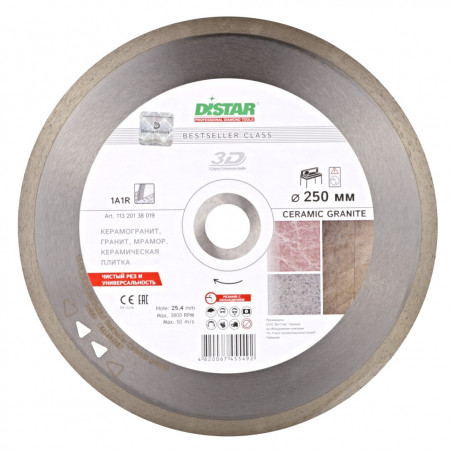 Диск Distar 1A1R 250x1,7x10x25,4 Bestseller Ceramic granite