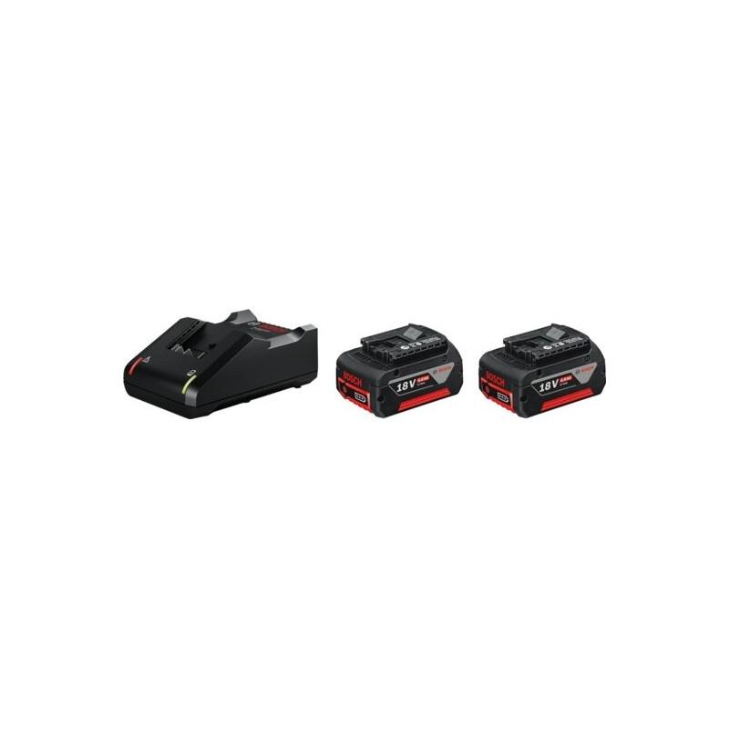 ЗУ Bosch GAL 18V-40 + 2 аккумулятора GBA 18 В 4.0 A*ч